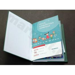 Okładka z kieszenią na książeczke zdrowia dziecka A5