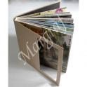 Foto-Album szyty nićmi, otwierany na płasko, drukowany, 25x25 do 35x35, oprawa foto lub eko-skóra