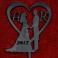 Ozdoba ślubna na tort z Twoją datą i inicjałami