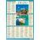 WNKS059, Kalendarz plakietka, jednoplanszowy A4 roczny