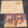 Pocztówka / kartka drewniana z fotonadrukiem i grawerowanym tekstem