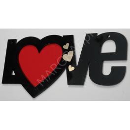 Walentynkowa zawieszka, słowo LOVE
