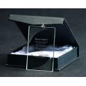 Statuetka szklana z prostokątną zawieszką GM7040, GM8050