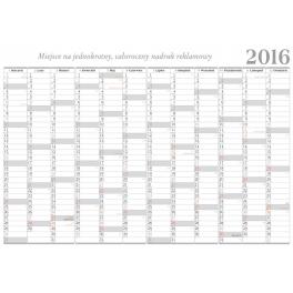 LBF5 Kalendarz biurowy PLANER terminarz roczny bez stopki wydawniczej