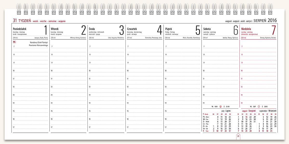 TH3 Kalendarz biurowy MANAGER