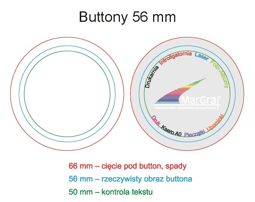 Button - otwieracz, 56 mm