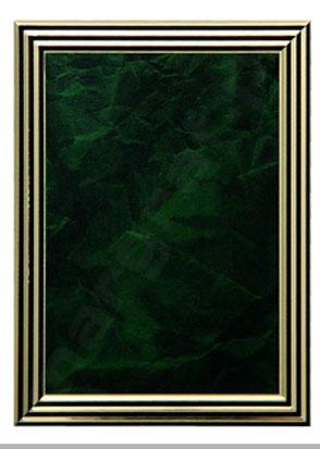Blaszka ozdobna, dyplom  z grawerowaną treścią