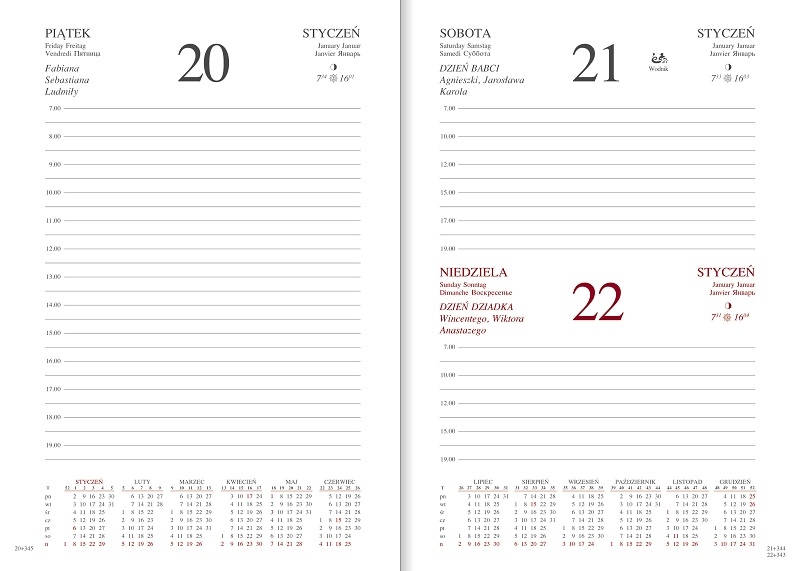 WN1213 Kalendarz A5 dzienny, ALBIT