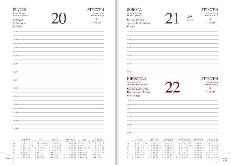 WN1227 Kalendarz B6, układ dzienny, ALBIT