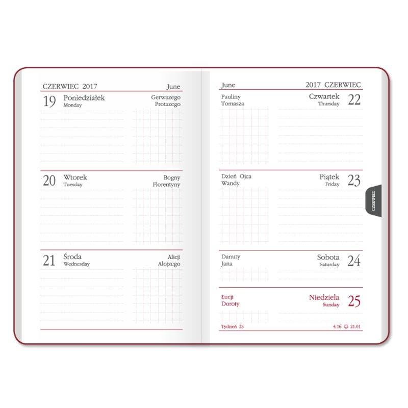 SSK5-1 Kalendarz mini max (oprawa twarda)