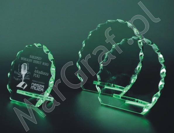 Szklana statuetka (okrągła z ząbkami), 80041, 80042, 80043