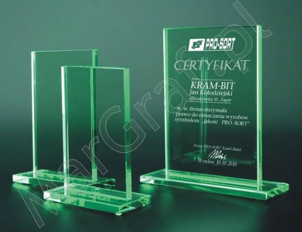 Szklana statuetka (prostokątna) 80031,80032,80033