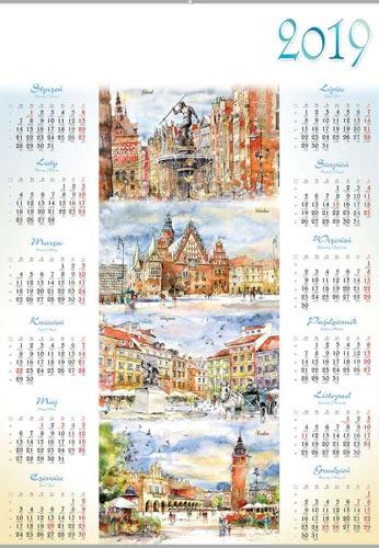 Kalendarz ścienny, plakatowy, wiszący, (A1+) LPL1-LPL34