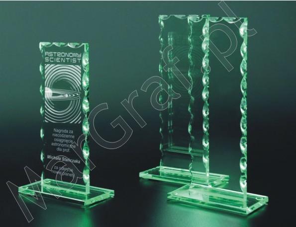 Szklana statuetka (prostokątna z ząbkami), 80221,80222,80223
