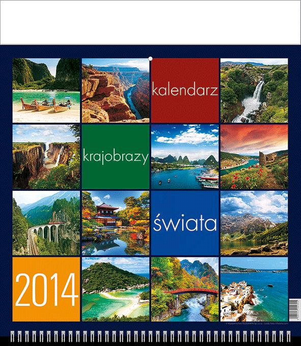 TW3 Kalendarz 13-planszowy B3 Krajobrazy Świata