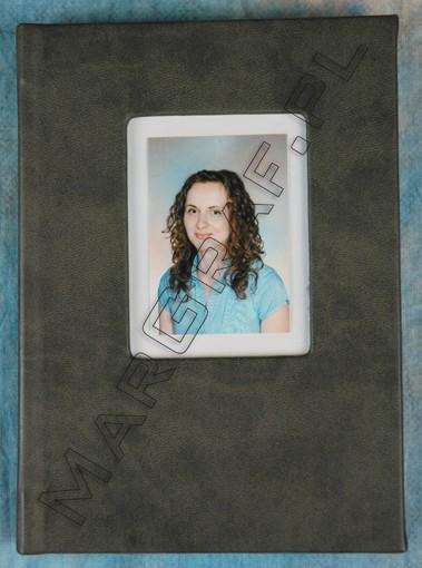 Indywidualny pamiętnik, notes z okienkiem na zdjęcie