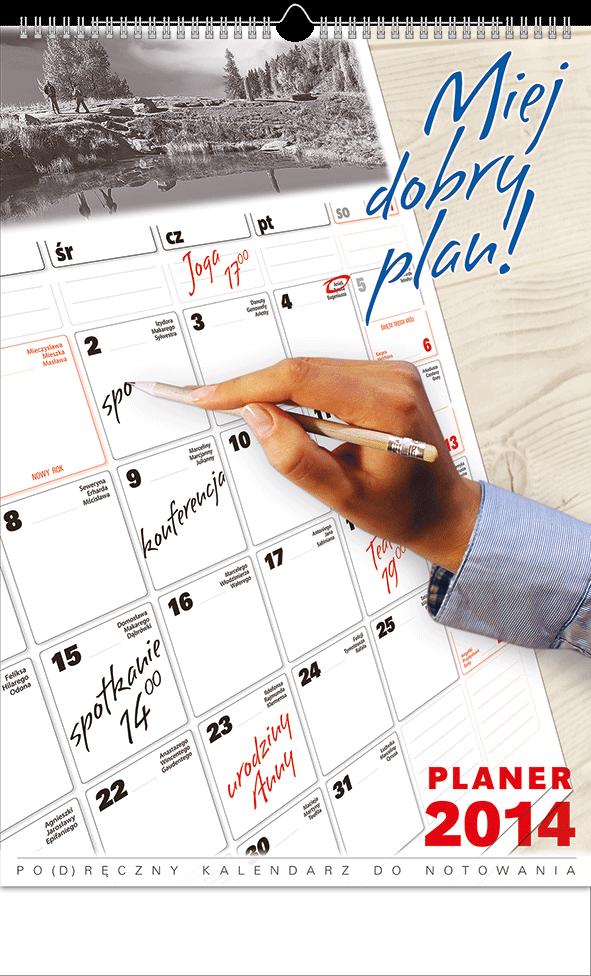 TW4 Kalendarz 13-planszowy B3 planer