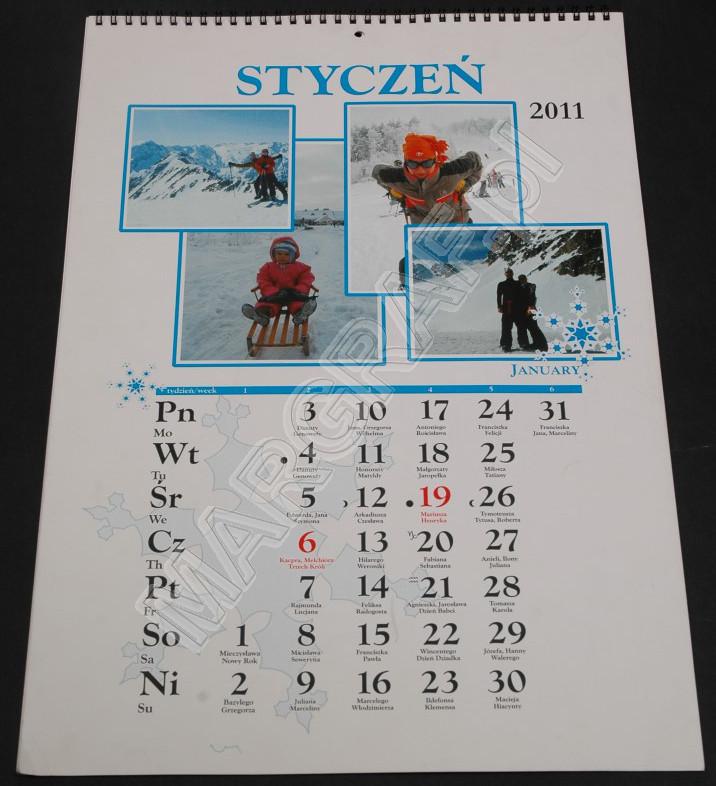 Foto-kalendarz 12-planszowy A2