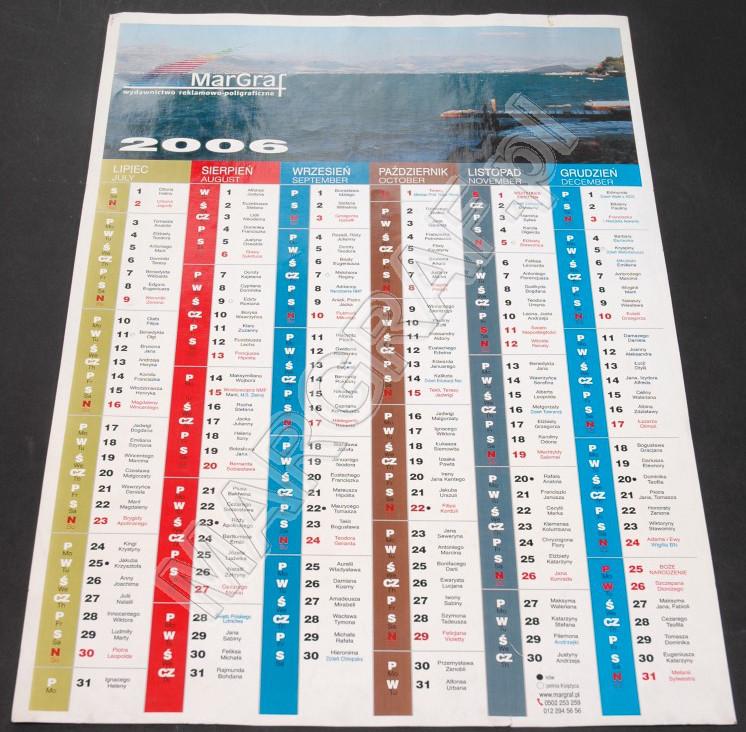 Foto-kalendarz jednoplanszowy, dwustronny A3+