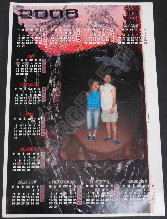 Foto-kalendarz plakatowy, 1-planszowy, duży plakat A2 (60x42 cm)