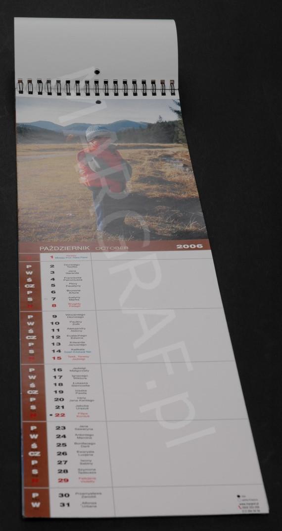 Foto-kalendarz 12-planszowy wąski