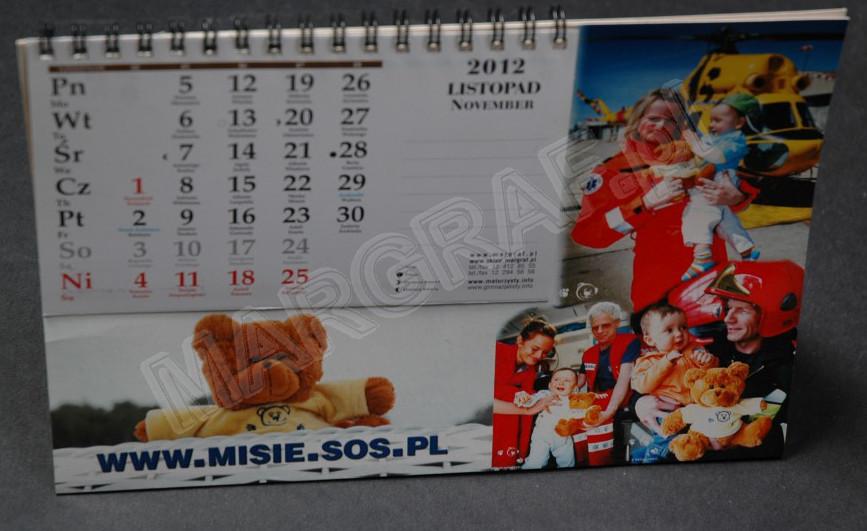 Foto-kalendarz daszkowy podłużny z Twoim zdjęciem