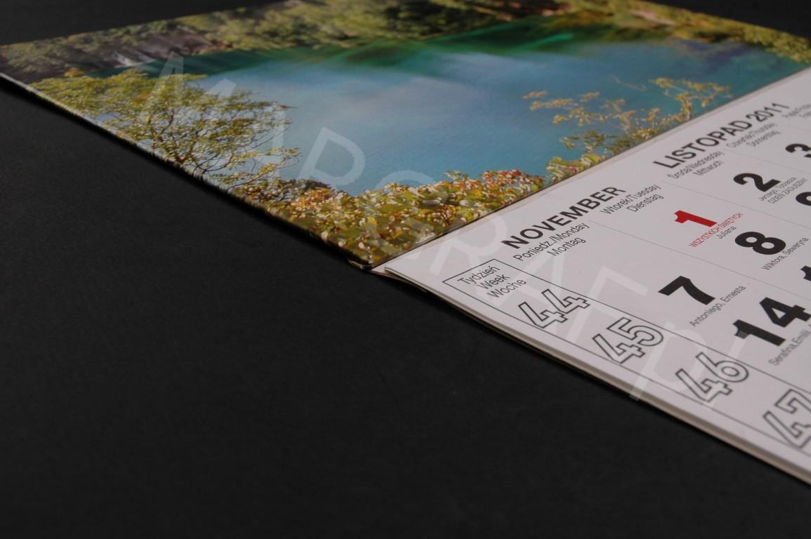 Foto-kalendarz trójdzielny z Twoim zdjęciem lub logiem firmy.