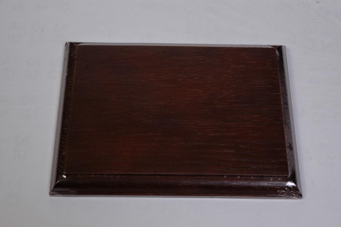 Podkład drewniany z dębu naturalnego, bejcowany , uszlachetniony na ciemny brąz OAK8-OAK9