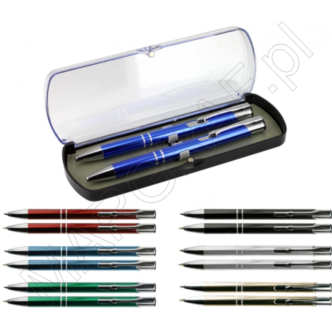 Solomon - Zestaw długopis i ołówek aluminiowy