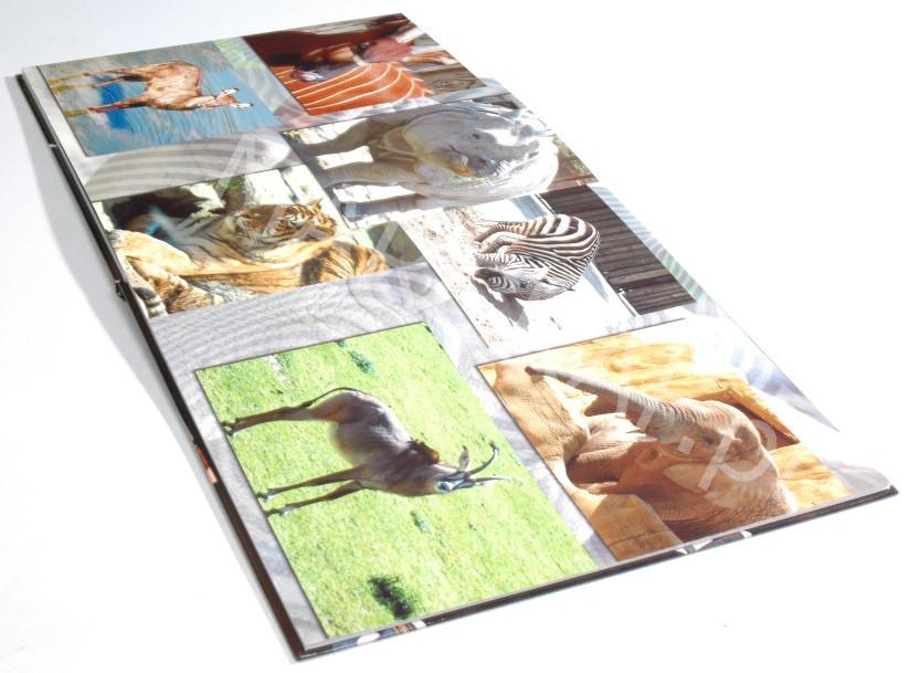 Oprawa książkowa twarda z foto-okładką, klejona na gorąco, foliowana