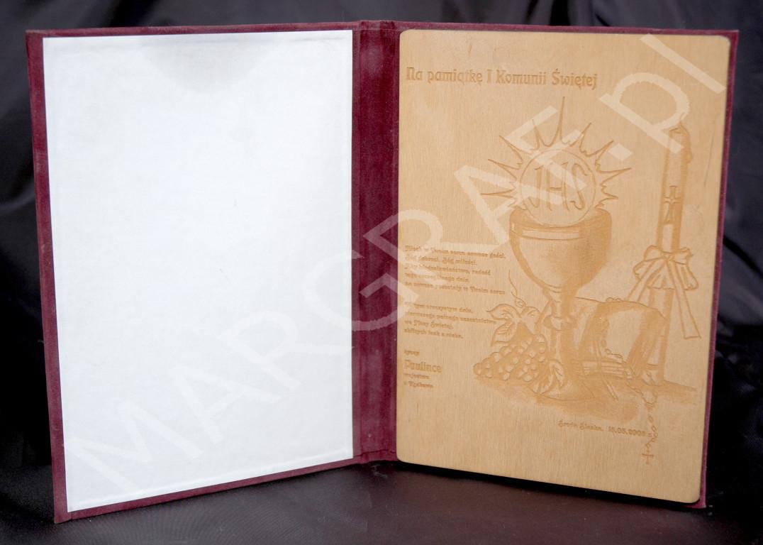 Dyplom A4, grawer na drewnianej sklejce