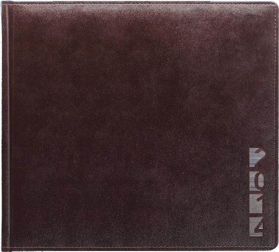 TM1s AMBER-7 Kalendarz książkowy 3/4 A4 poziomy, multiplaner, skóra naturalna