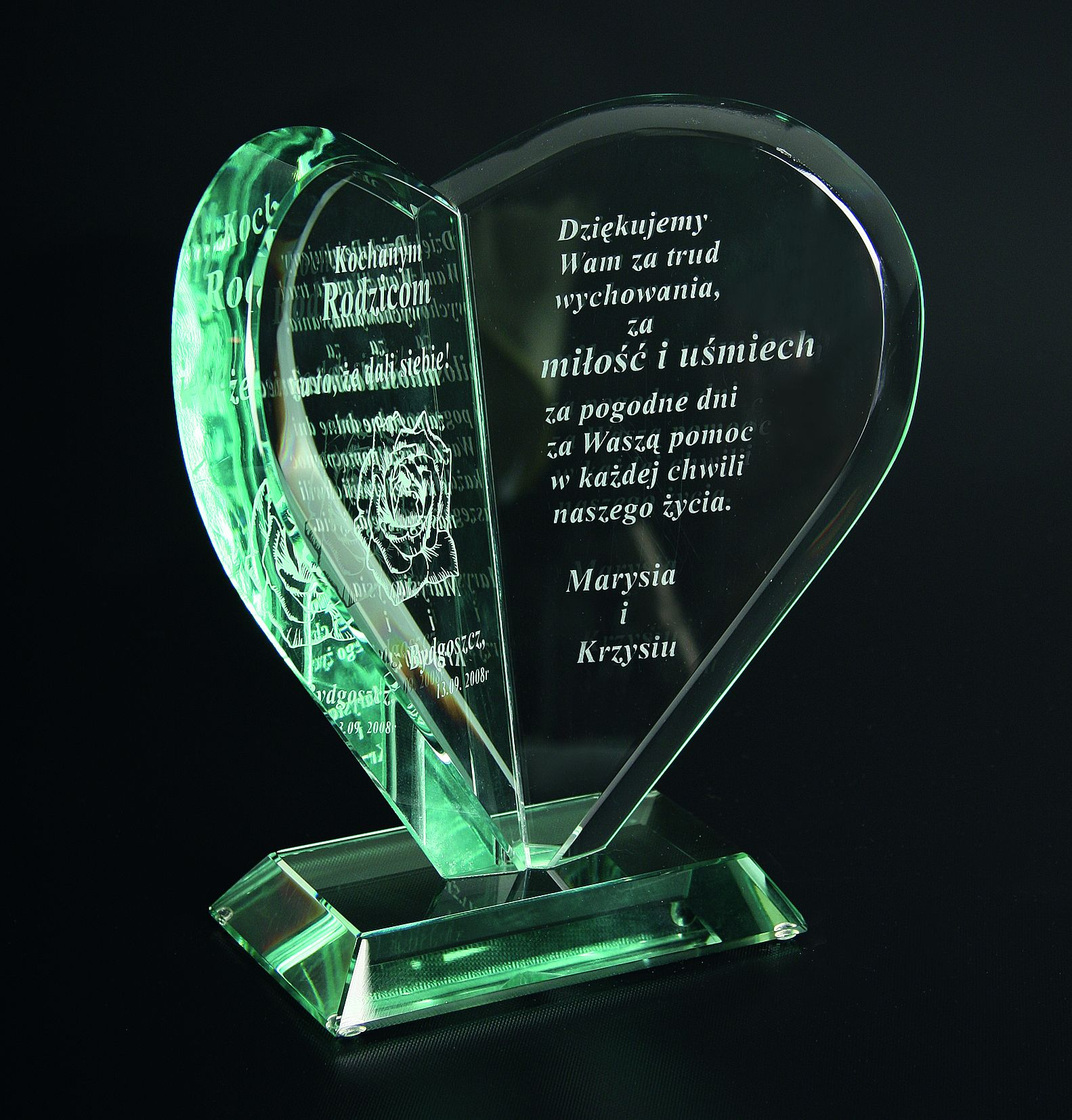 Statuetka szklana (serce) G021