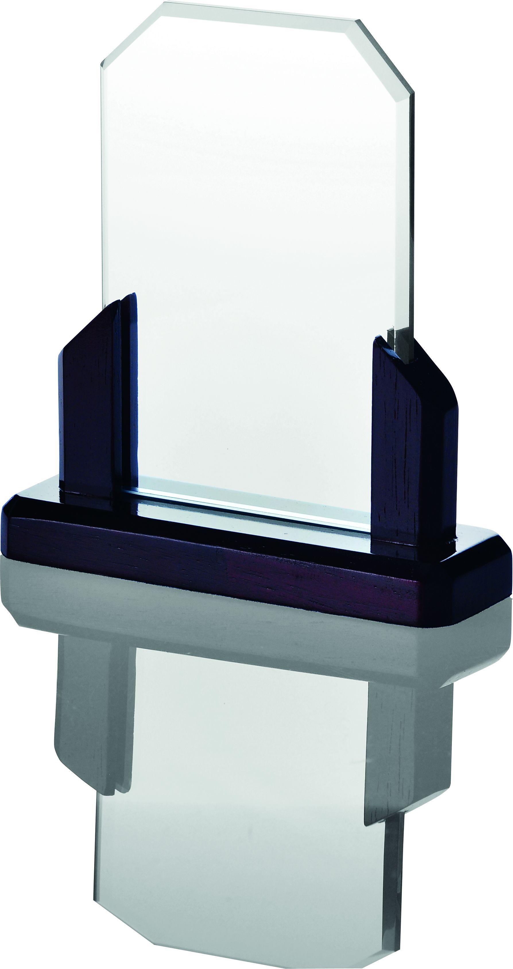 Statuetka szklana z drewnianą podstawką GA2117, GA2120