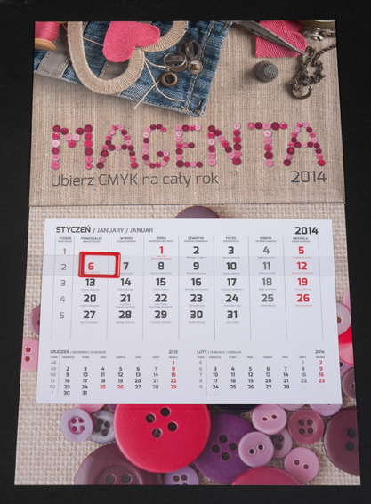 D1d Kalendarz 1-dzielny standard, autorski - opcje