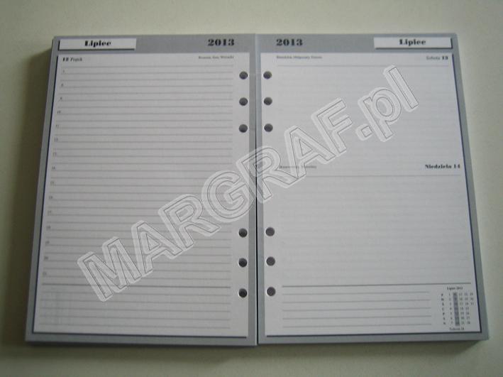 Wkład kalendarzowy ADNS A5
