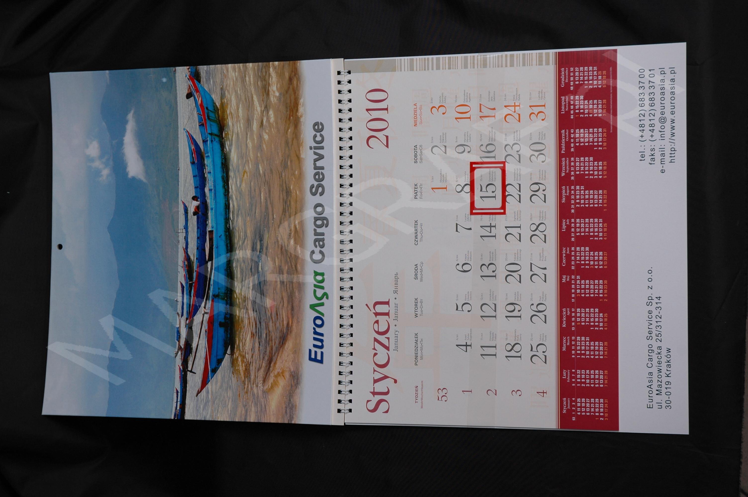 Kalendarz jednodzielny z doklejanym zdjęciem [SSB10]