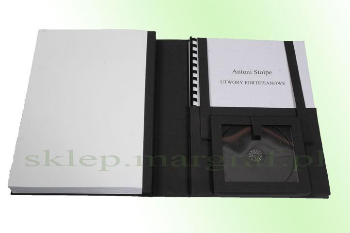 Oprawa z kieszenią na dokumenty i płytę CD