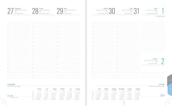 TU1 Kalendarz książkowy A4 plus