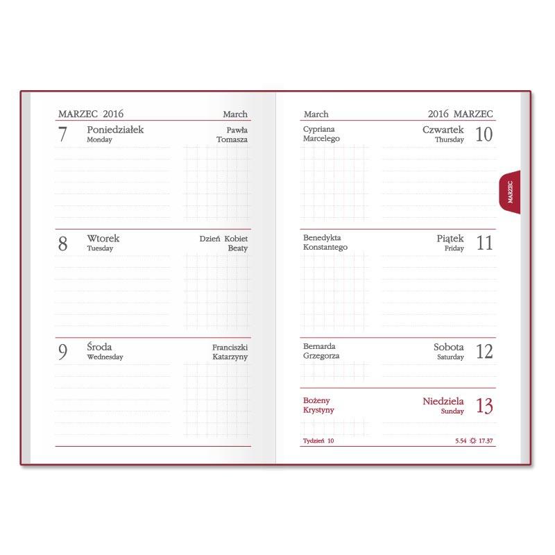 SSK5 Kalendarz mini max