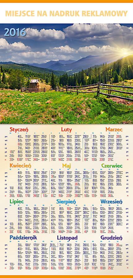 TR1-TR3 Kalendarz plakatowy 1/3 B1