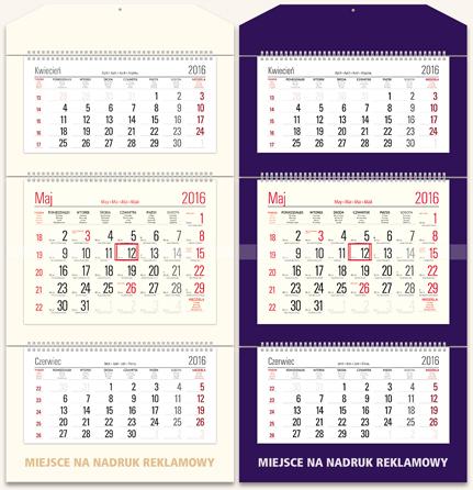 TT0 Kalendarz trójdzielny bez główki