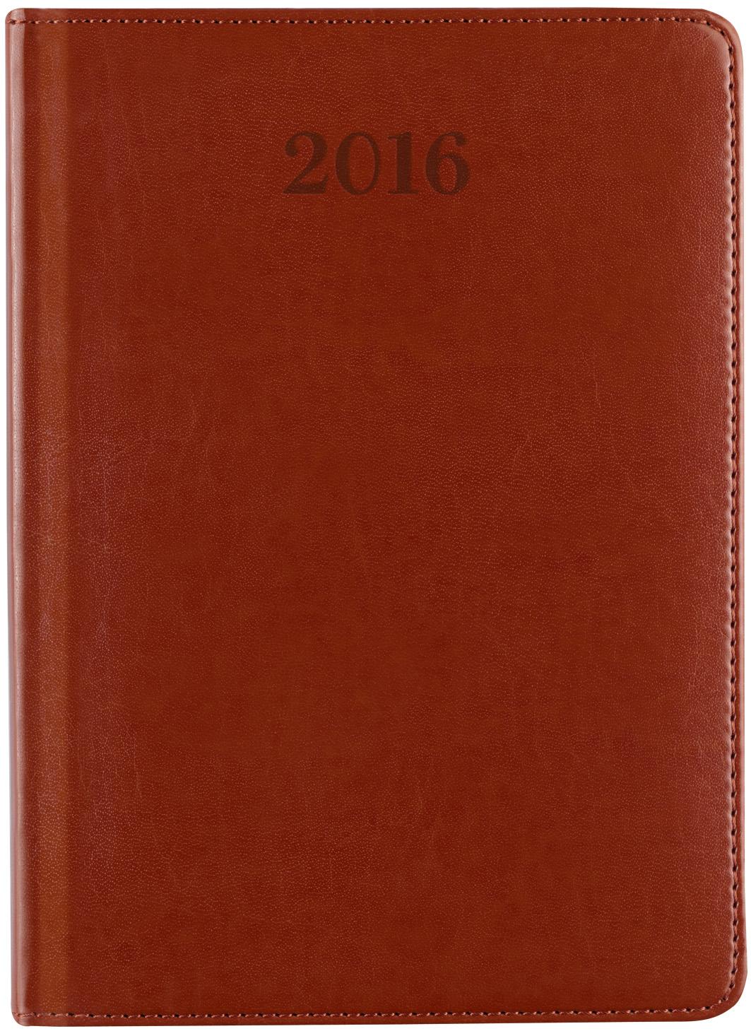 C600RD Kalendarz książkowy dzienny A4 z registrami, eco skóra elite